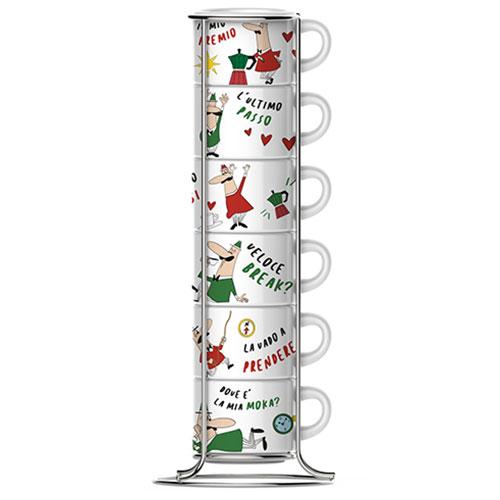 Bialetti Impilabili espresso kopjes in rek 6 stuks