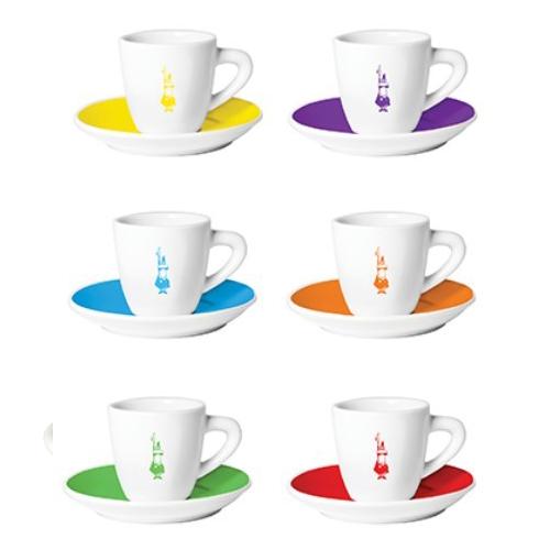 Bialetti Omino kopjes kleur set 6 stuks