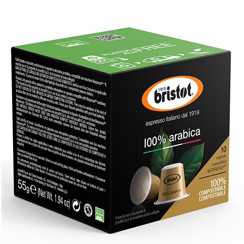 Bristot 100% Arabica Composteerbare Nespresso Capsules