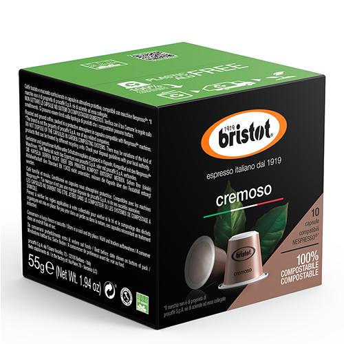 Bristot Cremoso Composteerbare Nespresso Capsules