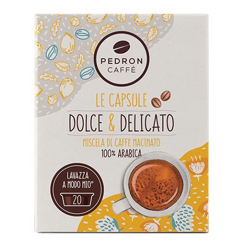Pedron Caffe Dolce en Delicato capsules voor Lavazza A Modo Mio