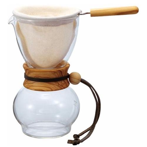 Hario Drip Pot Wood Neck Olijfhout