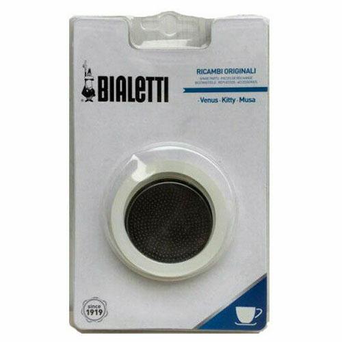 Bialetti Filterplaatje RVS + Ringen 6 kops
