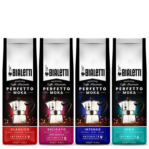 Bialetti Gemalen Koffie proefpakket - 4 x 250 gram | Classico, Intenso, Delicato en Deca
