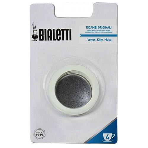 Bialetti RVS ringen + filterplaatje 4 kops