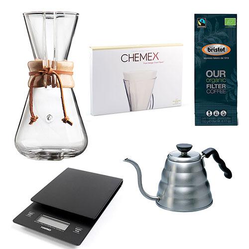 Chemex starter kit 3-Kops