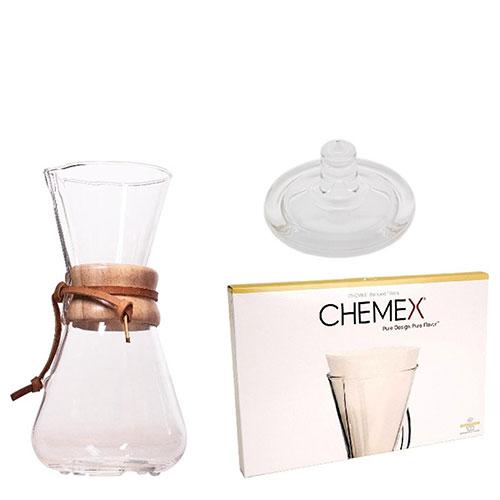 Chemex Slow Coffee Set 3-kops
