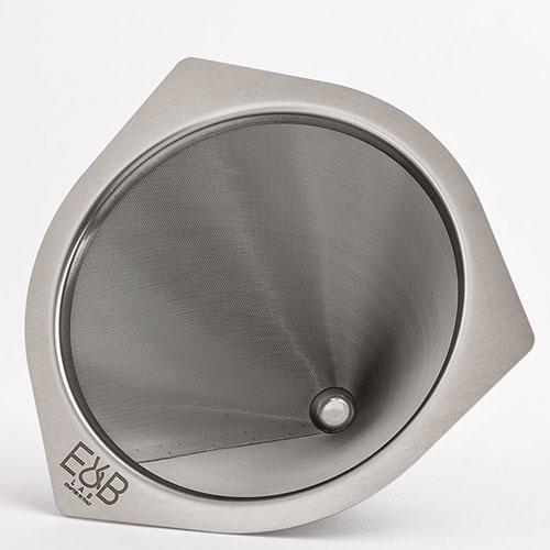 E&B LAB V60 Cone Dripper RVS Koffiefilter 35 micron