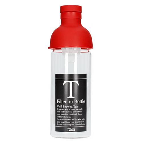 Hario Filter in Tea Bottle Rood 300ml
