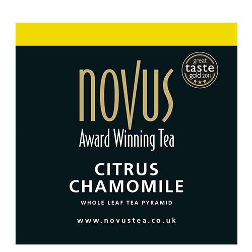 Novus Thee Citrus Chamomile Piramide Theezakje