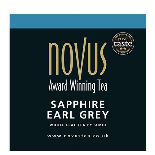 Novus Thee Sapphire Earl Grey Piramide Theezakje